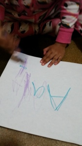 Trying to trace! So cute!