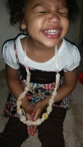 Brielle showing off the necklace!