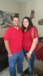Me and my love before the days adventures!