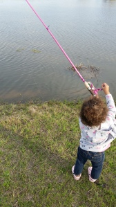 Fishing by herself