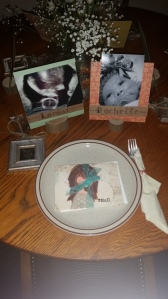 My dinner table setting.. so special to me