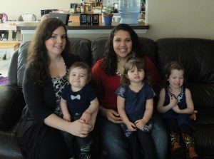 Cara and I with the kids! :)