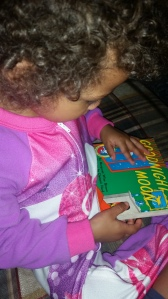 one of her absolutely favorite books, Goodnight Moon!