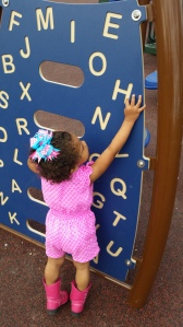 Fun alphabet puzzle we noticed at the park