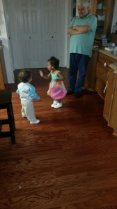 Brielle probably bossing around Aiden, the usual haha
