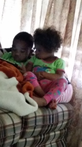 Brielle and Rae'sean sharing..for a minute!