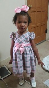 All ready for church with Daddy while mommy was at work!