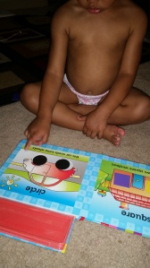 one of her favorite books to practice shapes from half price!