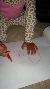 tracing mommy's letter