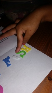 Fish has the letter S in it, she was so thrilled to know that. :)