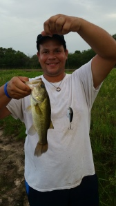just one of the fish  Daddy caught on Brielle's lure she bought him! :)