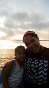 mommy and daughter with the sunrise behind us!