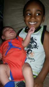 Braxton and his baby brother!