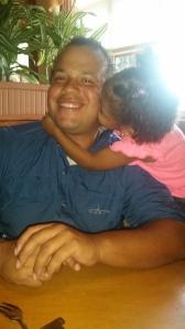 Loving on Daddy!