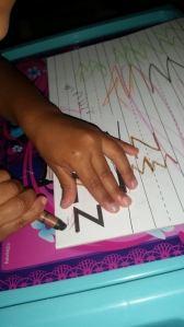 """More writing and tracing, and trying to do """"zig-zags"""""""