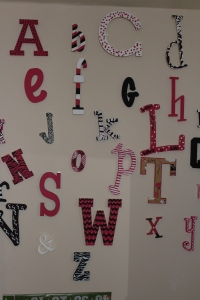 Alphabet wall!