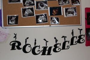 Sonograms and name on wall!