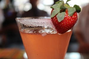 Looked great, tasted not so great! haha Strawberry Martini