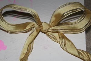 The bow I made.. not too great but it was a great attempt made!