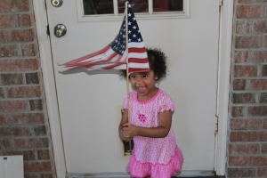 Brielle with the US flag!