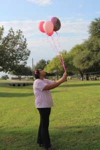 My beautiful prayer before my balloon release