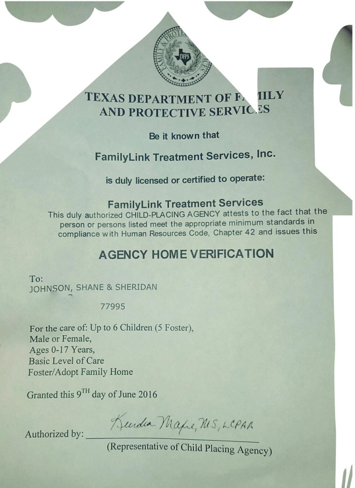 foster home license