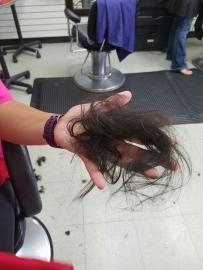 His first haircut!